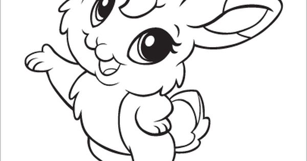 Learning Friends Rabbit Baby Animal Coloring Printable From LeapFrog The Learning Friends