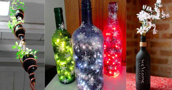 20 id es pour transformer vos bouteilles de verre en objets d co un tuto vase d co et - Objets recuperes et transformes ...