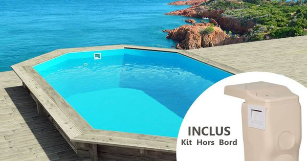 piscine bois cancun pas cher x x m kit hors bord prix promo piscine en bois. Black Bedroom Furniture Sets. Home Design Ideas