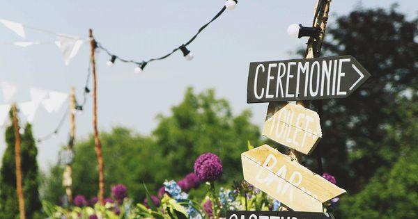 Anouk en bart trouwen in frankrijk in een prachtig landhuis wegwijzers decoratie en bruiloft - Ideeen deco blijven ...