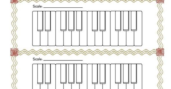 Blank Scale Keyboards Worksheet Worksheets Pianos And