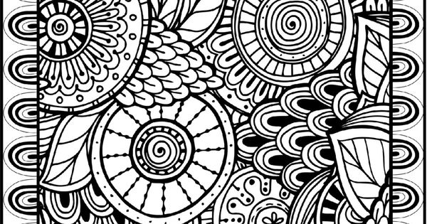 coloring pages for adults finished   Printable Coloring Pages for Adults, All Over Large Doodle ...