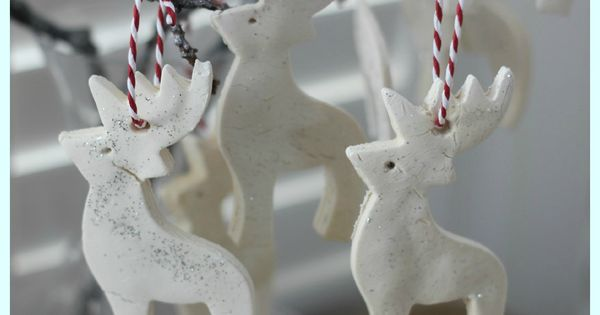 White Clay Ornaments Tutorial - The Imagination Tree. Uses cornstarch and baking