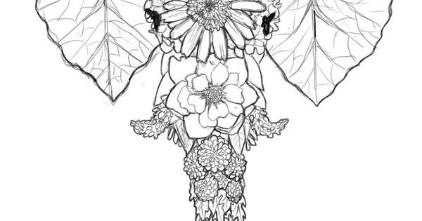 Elephant Flowers Tattoos Pinterest Flower Tattoo