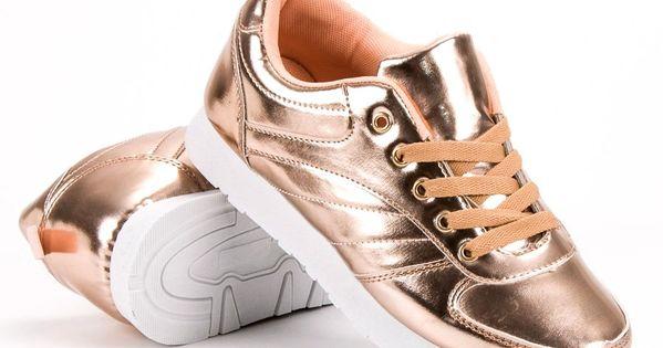Shelovet Lakierowane Buty Sportowe Zolte Shoes Sneakers Fashion