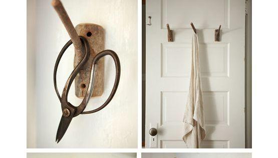Diy branch hooks porte manteaux manteau et portes - Porte manteau branche ...