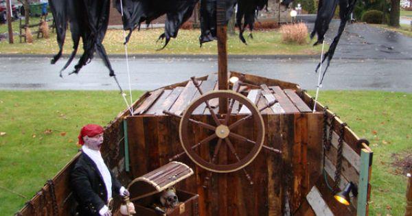 L 39 int rieur du bateau de pirate pour le d cor 2013 d for Decoration interieur halloween