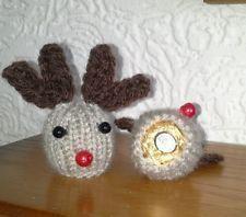Christmas Knitting Patterns For Ferrero Rocher.2 Hand Knit Christmas Reindeers Ferrero Rocher Chocolate