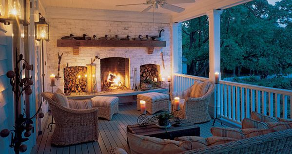 Back Porch Fireplace.. or nice front porch idea..