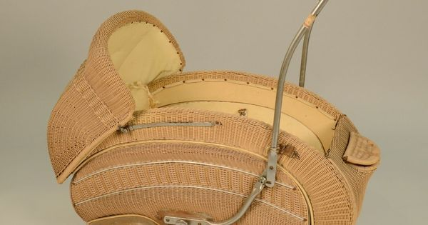 Art Deco Wicker Pram Attributed To Alfons Pollack