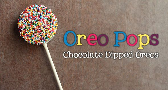 Chocolate dipped oreo pops.. hmm, these could be fun :)