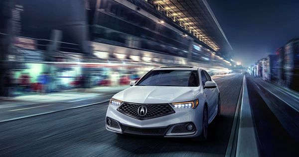 Download Wallpapers Acura Tlx A Spec Night 2018 Cars Movement White Tlx Acura Besthqwallpapers Com Acura Tlx Acura Ilx Acura