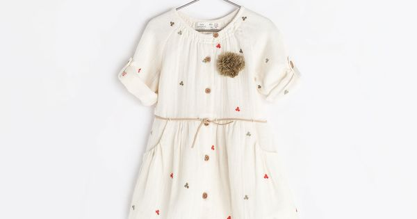 POMPOM EMBROIDERED DRESS from Zara o expensive for