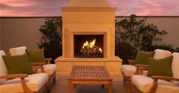 Outdoor Fireplace Kit Prefabricated House Pinterest