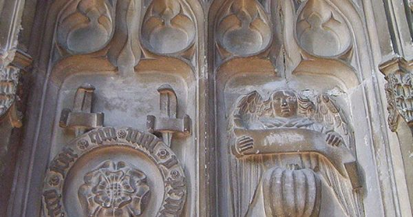 Stone carvings on prince arthur s chantry order of the
