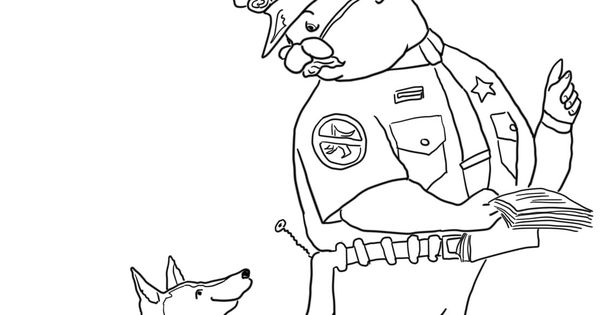 officer buckle and gloria coloring pages - photo #7