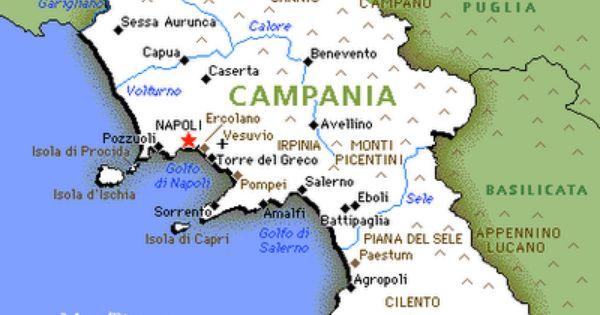 Campania Map Political Regions Ischias