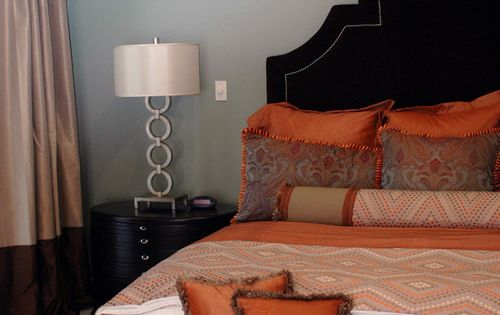 Master Bedroom With Orange Accents Decor Pinterest