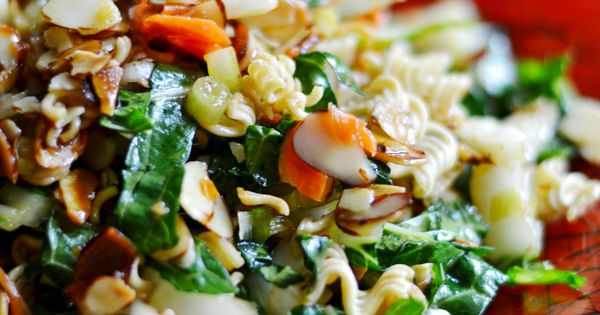 Crunchy Bok Choy Salad with sweet and sour dressing ...
