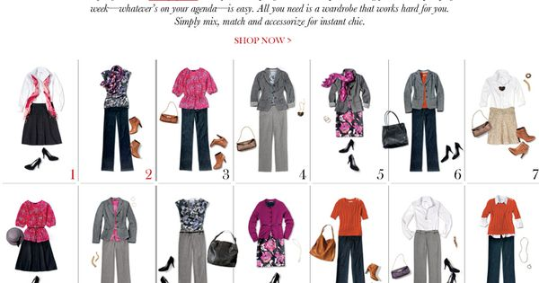 13 pieces into 31 outfits, fall/winter the lucky dozen