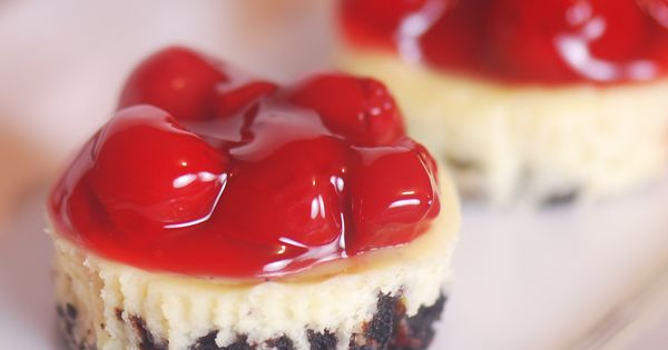 Mini Cherry Cheesecake Recipe.