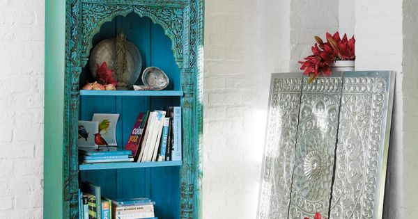 Biblioth que indienne madras d co pinterest belle for Decoration murale indienne