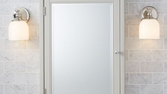 Hotel Medicine Cabinet, Extra-Large, Wall-Mounted, White