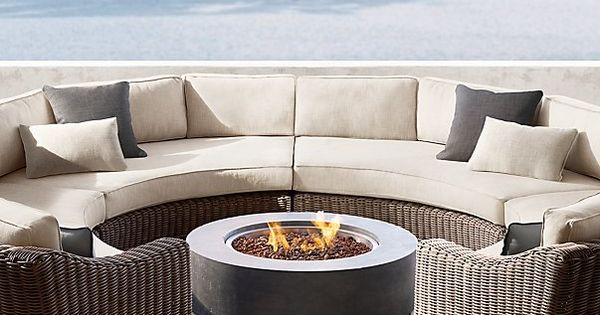 Download Wallpaper Semi Circle Patio Furniture With Fire Pit