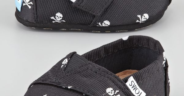 TOMS Tiny Skull Slip-On Shoes