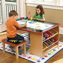 Kids Art Desk With Storage This Art Table Would Be Cute In A