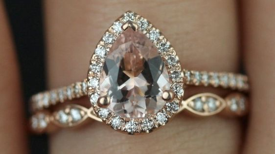 Rose Gold Morganite Ring. This with white gold would be even more