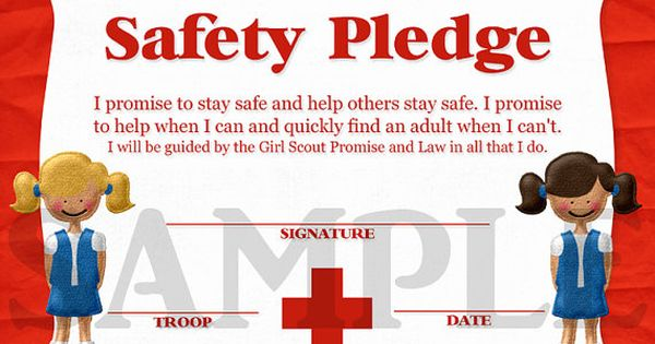 girl scouts daisy safety pledge certificate girl scout