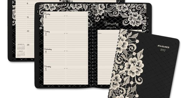 2017-2018 Lacey Desk Weekly//monthly Planner 6 1//4 X 9