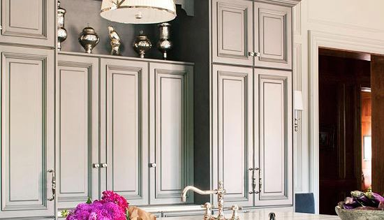 White & grey kitchen via @Gayle Robertson Robertson Roberts Merry Homes and