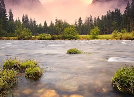 Valley Storm, Yosemite National Park, California, USA nature
