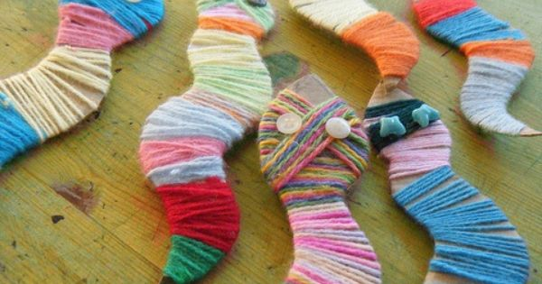 Yarn snake Craft for Kids