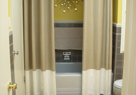 Two shower curtains. Why have I never thought of this? Two shower