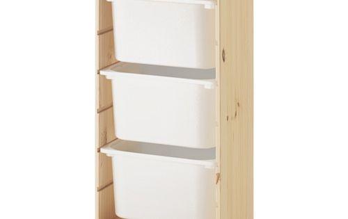 Trofast combi rangement bo tes pin pin teint blanc clair - Boite rangement plastique ikea ...