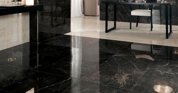 Carrelage de sol en gr s c rame poli aspect marbre for Carrelage clips