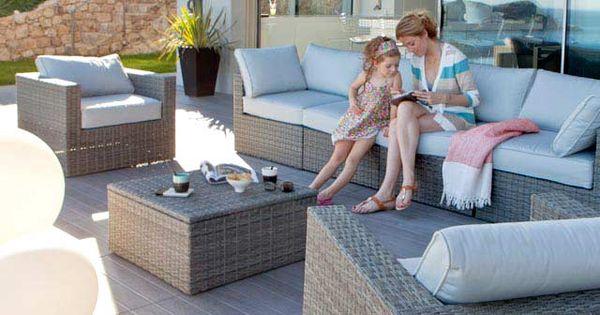 salon de jardin effet r sine tress e collection sulana castorama home jardin et v randa. Black Bedroom Furniture Sets. Home Design Ideas