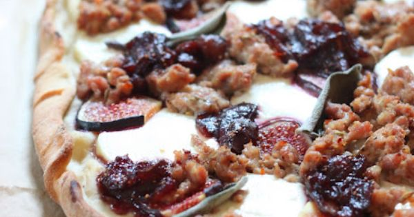 Goat cheese pizza, Balsamic onions and Figs on Pinterest