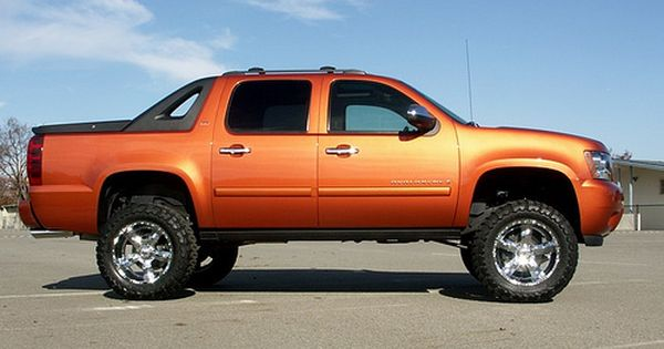 Orange Chevy Avalanche Chevy Avalanche Avalanche Truck Chevy Trucks