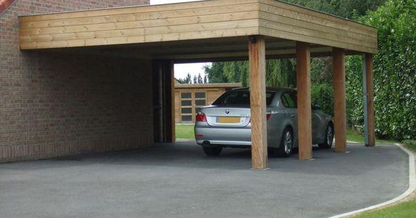 carport bois adoss pas cher vente carports 2 voitures sur mesure jardin pinterest. Black Bedroom Furniture Sets. Home Design Ideas