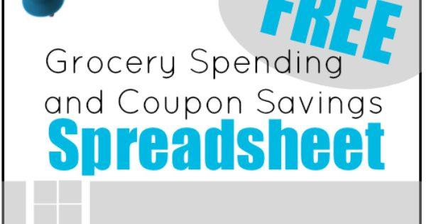 Coupon savings spreadsheet