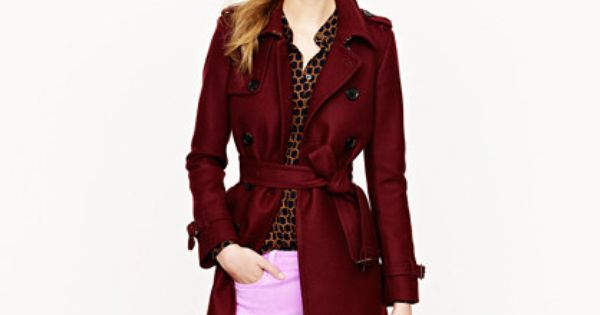 Icon trench in wool-cashmere- Goal winter coat!