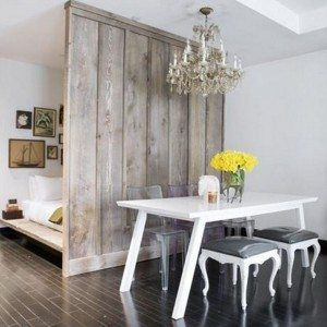 Easy Diy Room Divider Made Of Old Wooden Board Unique Room