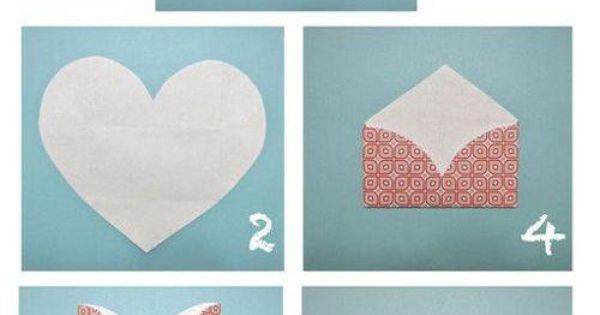 How To Turn A Heart Shaped Piece Of Paper Into An Envelope