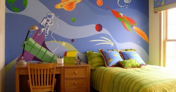 Kids Bedroom Background space wall murals for kids bedroom kids bedroom with cute space