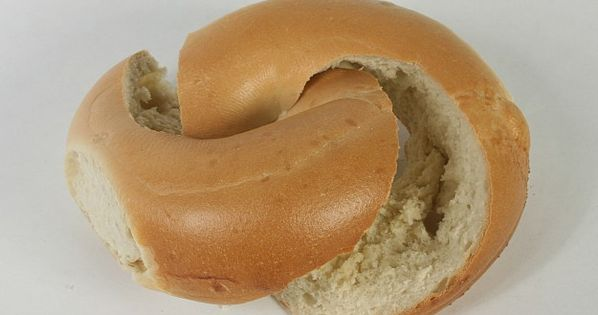 Mathematically Correct Breakfast a.k.a. The Mobius Sliced Bagel.