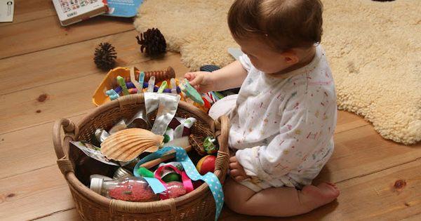 Sensory Box Idea from - The Imagination Tree: Baby Play Ideas and